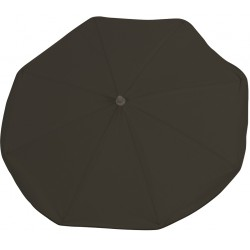 Black chair umbrella with UV filter