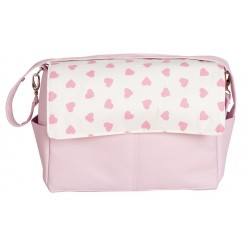 Baby bag maternal Pink hearts