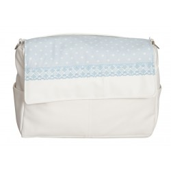 Baby Bag Blue Topos
